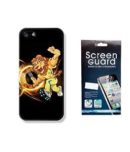 KolorEdge IPL Back case + Screen Protector for Apple iPhone 5 - Multicolor