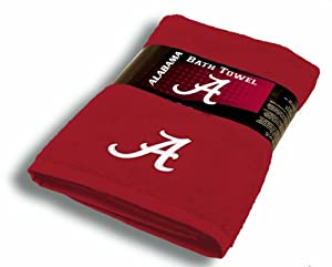 NCAA Alabama Crimson Tide 30-Inch-by-54-Inch Applique Bath Towel