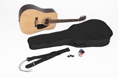 120f2f2426 Fender FA 100 Dreadnought Acoustic Guitar Pack with Gig Bag Tuner Strings  Strap and Picks Natural