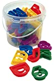 Dexam Plastic Letters and Numbers Cookie Cutters, Set of 36