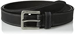 Timberland Men\'s Big and Tall 35Mm Boot Leather Belt, Black, 46