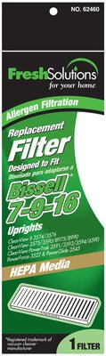 Fresh Solutions 70420 Bissell 7-9-16 Uprights, Post Motor Pleat, Hepa Vacuum Filter
