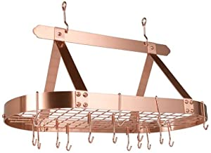 Old Dutch 36-by-19-Inch Oval Pot Rack, Copper