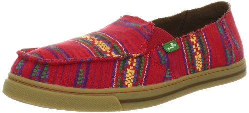 Sanuk Women's Cabrio Poncho Fabric Loafer,Red,8 M US