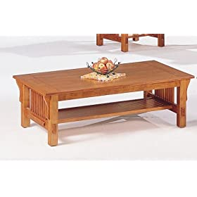 Mission Style Oak Coffee Table Tables Living Room Furniture