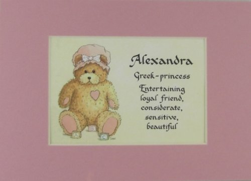 Personalized Baby Name Alexandra Nursery Wall Decor Keepsake Gift Made In The Usa