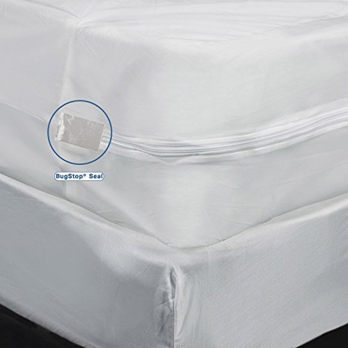"Vinyl Mattress Cover With Zipper Heavy Gauge Mattress Cover, Full, 9"" Depth - Waterproof, Heavy Duty Vinyl Mattress ..."