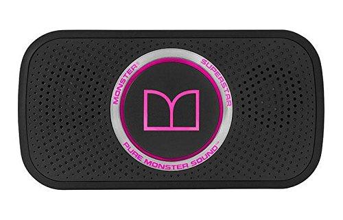 Monster SUPERSTAR portabler Bluetooth-Lautsprecher (mit integr. Akku) Schwarz/Pink