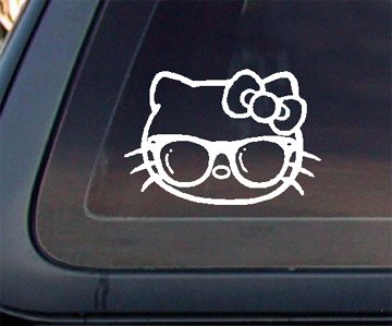 Hello Kitty with Sunglass Car Decal / Sticker