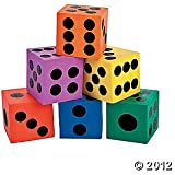 6 Pc Playing Dice Game Night Or Multi Colored Math Manipulatives