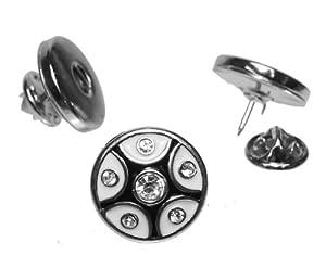 Trendline24 Click Button Anstecker / Brosche br001 passend für alle Standard Chunks -inkl. Schmuckbeutel