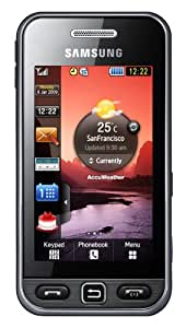 Samsung Star S5230 Smartphone (Touchscreen, 3MP Kamera, Video, MP3-Player, Bluetooth) noble-black
