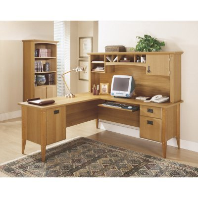 Buy Low Price Comfortable Bush Mission Pointe Computer Desk with Optional Hutch – BHI122 (B003ZJ7HP4)