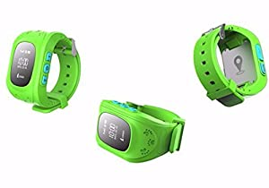 adsen(TM) Q50 GPS Tracker Smart Watches Wristband for Child Satellite Monitoring Double Locate Remote Monitor SOS (Green)