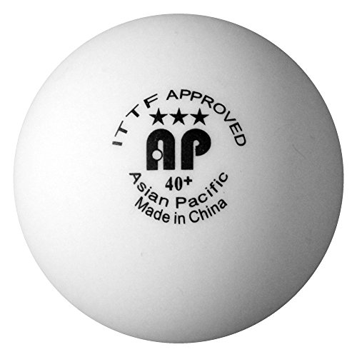 Fantastic Deal! Asian Pacific (Xushaofa Equivalent) 40+ Seamless Poly Table Tennis Balls - 3 Star