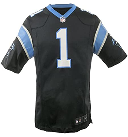 factory price 5b456 8d65e Amazon.com : Carolina Panthers Cam Newton Black Youth NFL ...