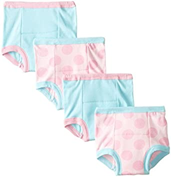 Gerber Little Girls' 4 Pack Polka Dots Training Pants, Pink, 2T