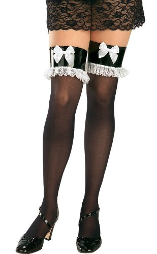 French Maid Thigh High Stockings - Adult Std.