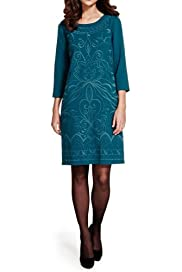 Per Una Embroidered Tunic Dress [T62-6631J-S]