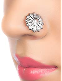 Moha 925 Sterling Silver Jasmine Clip-on Nose Pin For Women