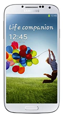Samsung Galaxy S4 5 inch UK SIM-free (unlocked) Smartphone (Quad Core 1.9GHz, 2Gb RAM, 16Gb storage, 4G, WLAN, BT, Camera, Android 4.2.2) - White Frost