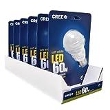Cree 9.5-watt (60w) LED Light Bulb * 6 Pack * - Soft/warm White (2700k)
