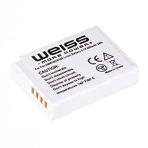 Weiss - DMW-BCG10E - Batterie Li-Ion pour Panasonic - 800mAh