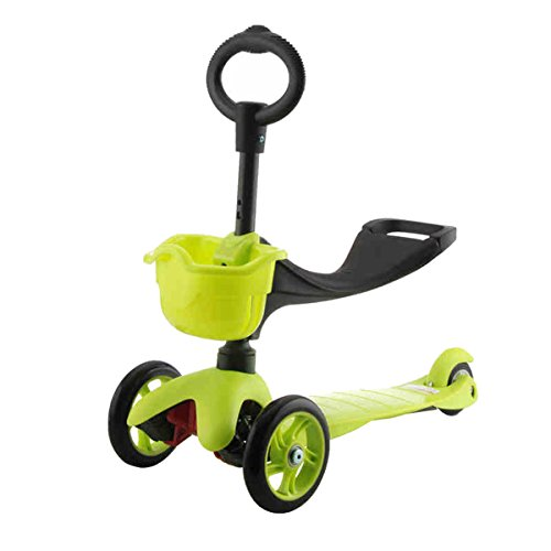 Rimable 3-in-1 Kick Scooter with T Bar and O Bar (Green)