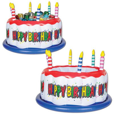 Inflatable Birthday Cake Cooler (1/pkg)