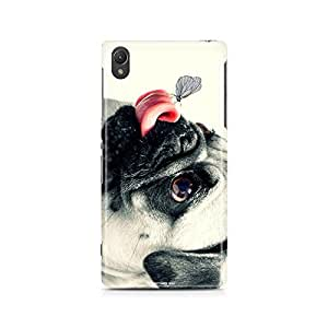 Motivatebox - Sony Xperia Z5 Back Cover - Bulldog vs Butterfly Polycarbonate 3D Hard case protective back cover. Premium Quality designer Printed 3D Matte finish hard case back cover.
