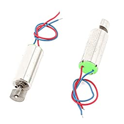 2Pcs DC1.5-4.5V 41509RPM High Torque Vibration Coreless Motor 7mmx16mm