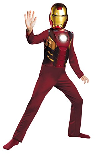 Boys Iron Man Mark Avengers Basic Kids Child Fancy Dress Party Halloween Costume