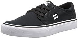 DC Trase TX Youth Shoes Skate Shoe (Little Kid/Big Kid), Black/White, 4.5 M US Big Kid