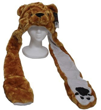 YIJUE Brown Bear Animal Hat and Muffler with Mittens