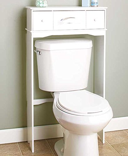 Wooden Bathroom Space Saver White
