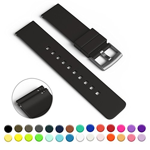 gadgetwraps-22mm-silicone-strap-band-for-pebble-watch-with-quick-release-pins-black