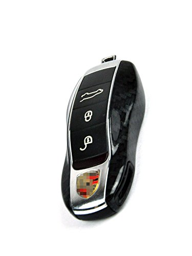 SMPI Porsche Painted Key Remote Trim Cayenne Panamera Carrera 981 991 958 970 911: Carbon Fiber