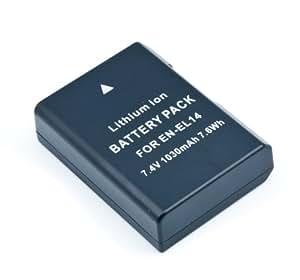 QUMOX Nouvelle Batterie décodée EN-EL14 ENEL14 pour Nikon P7000 P7100 D3100 D3200 D3300 D5100 D5200 DF D5300 D5500 D700 D7100 D7200 D7700