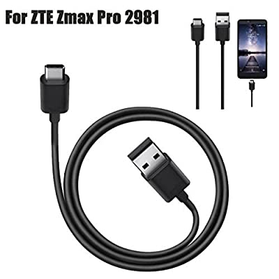 Sandistore USB-C USB 3.1 Type C Data Charge Charging Cable for ZTE Zmax Pro Z981 by Sandistore