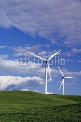 "Wallmonkeys Peel and Stick Wall Decals - Power Generating Windmills - 24""H x 16""W Removable Graphic"