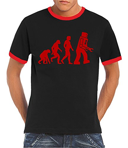 touchlines-robot-something-somewhere-ringer-kontrast-camiseta-s-xxl-varios-colores-negro-rojo-s