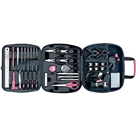 Apollo Precision Tools DT3803P  50 Piece Hobby and Craft Set, Pink
