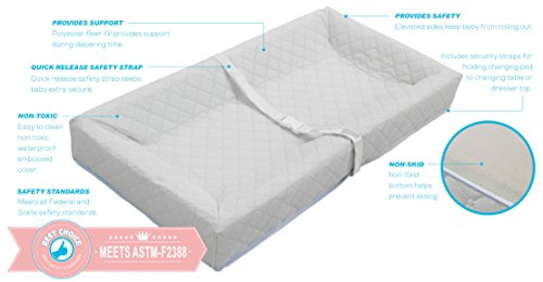 "LA Baby Combo Pack with 30"" 4 Sided Changing Pad and White Terry Cover"
