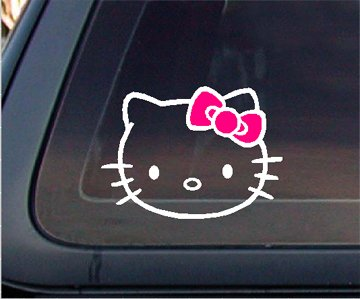 Hello Kitty with PINK BOW Car Decal / Sticker