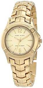 Anne Klein Women's AK/1002CHGB Gold-Tone Watch