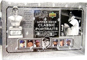 2003 PLAYOFF PORTRAITS BASEBALL CARDS HOBBY BOX