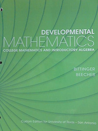 Developmental Mathematics College Mathematics and