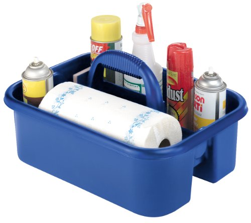 Images for Akro-Mils 09185 BLUE Plastic Tote Caddy, 14-Inch by 18-Inch by 9-Inch, Blue