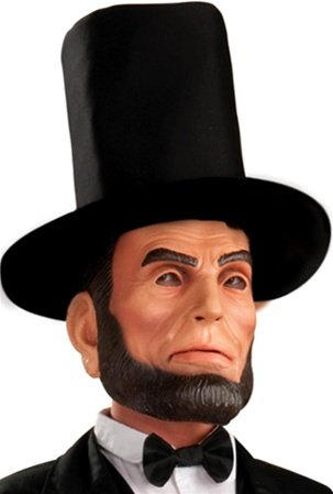 Abraham Lincoln Latex Mask and Hat