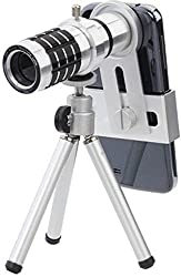Technomart 12x Universal Mobile Camera Zoom Lense Tripod for All Smart Phone
